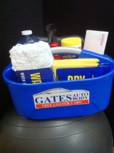 Gates Auto Body- car care kit and certificate for detailing