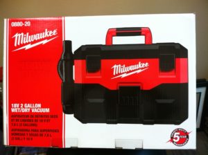 Milwaukee Tools wet dry vac  Donated by Crown Hardware