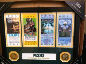 Packer framed tickets