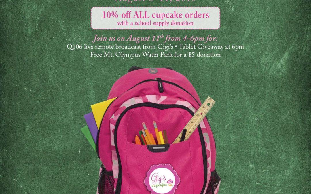 Cupcakes for Madison4Kids & Gigi's Project Bookbag, TOMORROW!